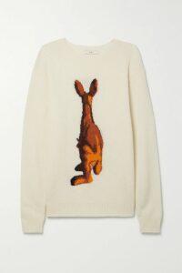 Orseund Iris - Box Cropped Pinstriped Wool-blend Blazer - Cream