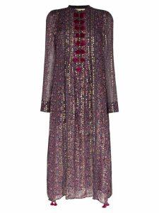 Figue Rumi printed kaftan dress - PURPLE