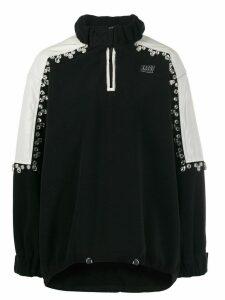 Brognano crystal-embellished pullover fleece jacket - Black