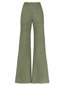 Adriana Degreas wide leg high-waisted trousers - Green