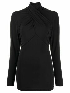 Isabel Marant twisted neckline top - Black