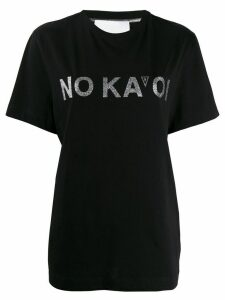 No Ka' Oi logo print T-shirt - Black