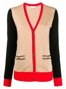 Tory Burch color-block Madeline cardigan - Brown
