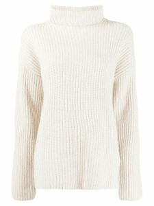 Joseph ribbed roll neck jumper - NEUTRALS