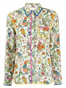 Tory Burch Promised Land floral shirt - White