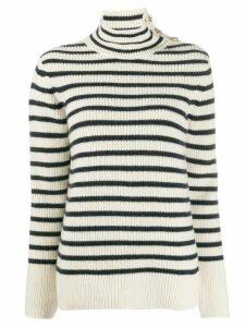 Tory Burch striped jumper - White