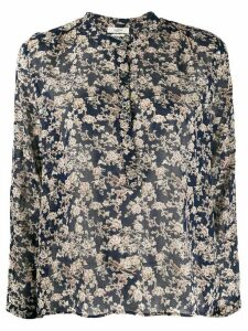 Isabel Marant Étoile floral-print band collar shirt - Blue
