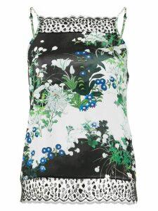 Givenchy floral-print lace detail top - Black
