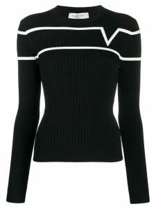 Valentino jacquard VTLNSTAR logo jumper - Black