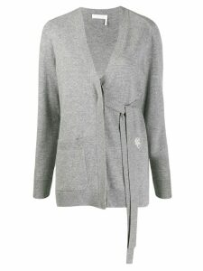 Chloé tied V neck cardigan - Grey