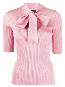 Dolce & Gabbana pussy bow detail knitted top - PINK
