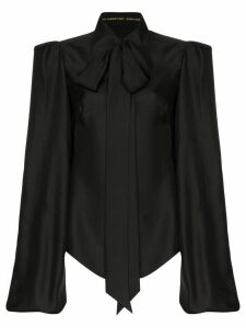 The Vampire's Wife exaggerated sleeve shirt - Black