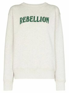 Isabel Marant Étoile slogan print sweatshirt - Grey