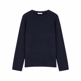 THE ROW Sibel Navy Wool-blend Jumper