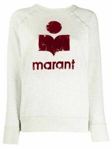 Isabel Marant Étoile logo print sweatshirt - NEUTRALS
