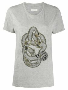 Zadig & Voltaire Aria embroidered T-shirt - Grey