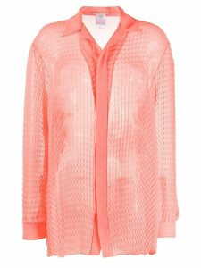 Marco De Vincenzo textured oversized shirt - PINK
