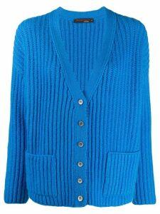 Incentive! Cashmere V-neck cashmere cardigan - Blue