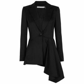 Alice & Olivia Jeans Hudson Black Wool-blend Blazer