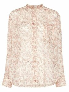 Isabel Marant Étoile button-up floral blouse - Brown