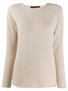 Incentive! Cashmere round neck cashmere jumper - NEUTRALS