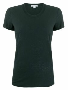 James Perse curved hem shortsleeved T-shirt - Blue