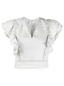 Isabel Marant Étoile April ruffled linen blouse - Grey