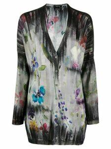 Avant Toi floral print cardigan - Grey