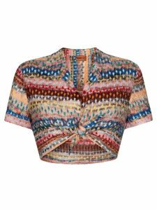 Missoni Mare cropped crochet-knit tip - PINK