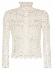Alexander McQueen crochet-knit cardigan - White