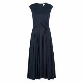 'S Max Mara Filly Navy Cotton Midi Dress