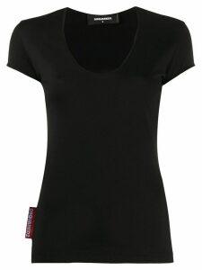 Dsquared2 logo tab T-shirt - Black
