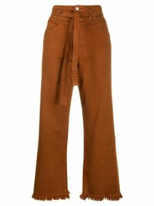 J Brand Sukey high rise cropped jeans - ORANGE