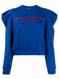 Philosophy Di Lorenzo Serafini logo print puff-shoulder sweatshirt -