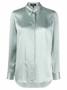 Theory regular-fit silk shirt - Blue
