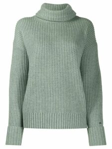 Calvin Klein ribbed roll neck jumper - Green