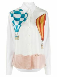 LANVIN hot air balloon-printed shirt - White
