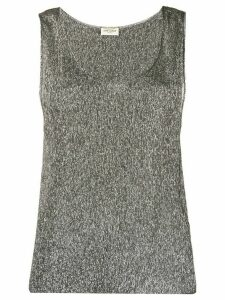 Saint Laurent metallic sleeveless top - Grey
