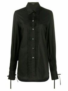 Ann Demeulemeester pleated detail shirt - Black