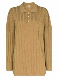 Totême Bonifacio oversized ribbed jumper - Brown