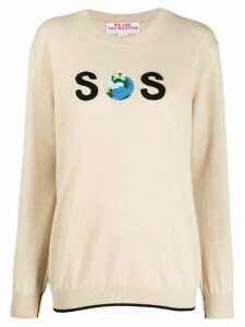 Stella McCartney SOS embroidered jumper - NEUTRALS