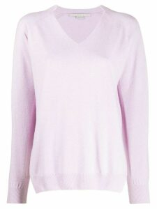 Stella McCartney V-neck knitted jumper - PURPLE