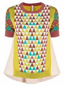 Antonio Marras geometric pattern knitted top - PINK