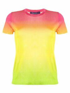 Ralph Lauren Collection silk ombre crew neck T-shirt - Yellow