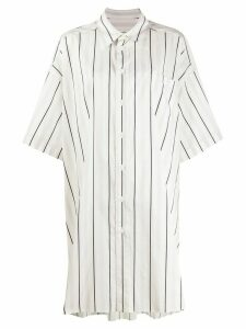 Maison Margiela striped oversize shirt - White