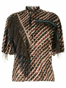 Kolor ruffle detail shirt - Black