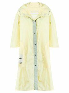 Yves Salomon Army hooded rain jacket - Yellow