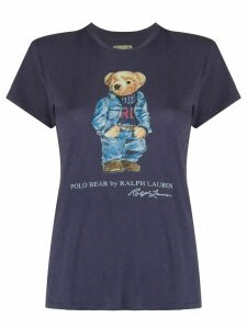 Polo Ralph Lauren Polo Bear-print cotton T-shirt - Blue