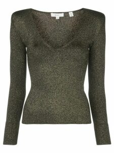 A.L.C. structured-shoulder metallic top - Black