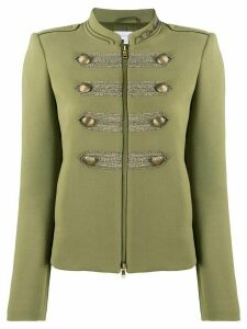 Patrizia Pepe short fitted military jacket - Green